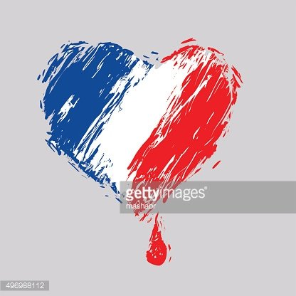bleeding heart colors of the French flag