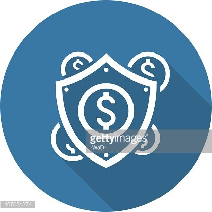Secure Transactions Icon. Flat Design.