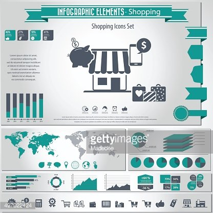 Shopping Icons and infographic elements
