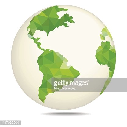 Vector polygonal style illustration of earth.
