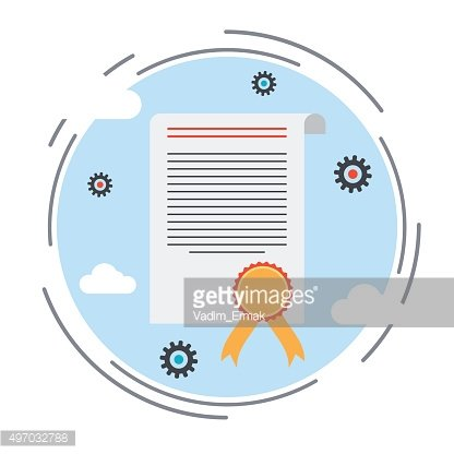 Certificate, diploma, charter vector illustration
