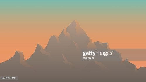 Stylized Image of Mountains at Sunrise