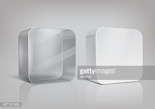 White and transparent rectangle package