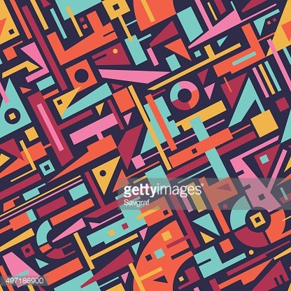 Abstract Seamless Modern Art Pattern for Textile Design