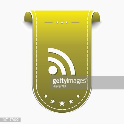 RSS Sign Yellow Vector Icon Design