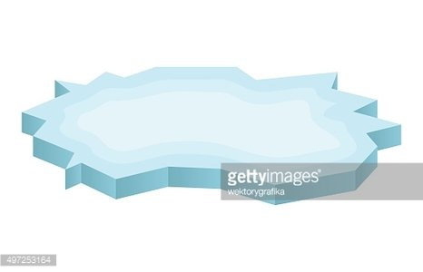 Ice floe icon, symbol, design. Winter vector