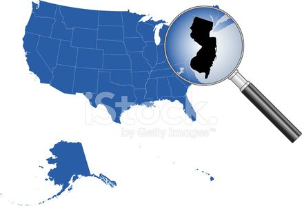 United States of America - New Jersey Map