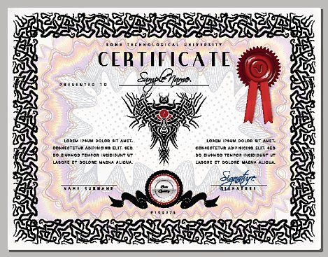 Gift certificate diploma award template with celtic pattern border gift certificate diploma award template with celtic pattern border vector yadclub Images