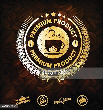 Premium coffee labels and badges Vector
