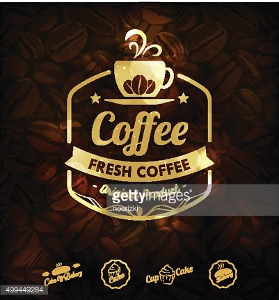 Vector Gold Coffee Labels