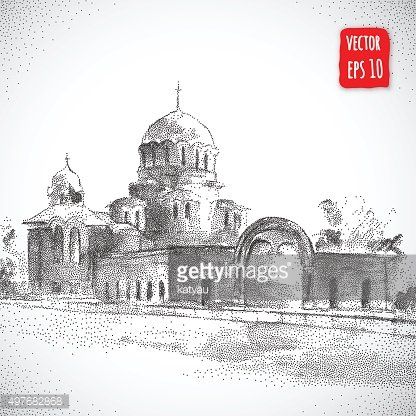 Hand drawn Cathedral