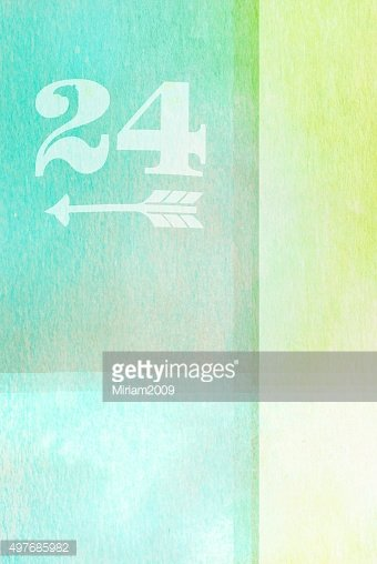 old fashioned number twenty four on textured abstract backgroun