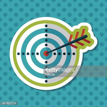 target flat icon with long shadow,eps10