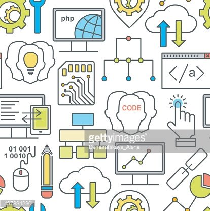 Internet technology and programming seamless background