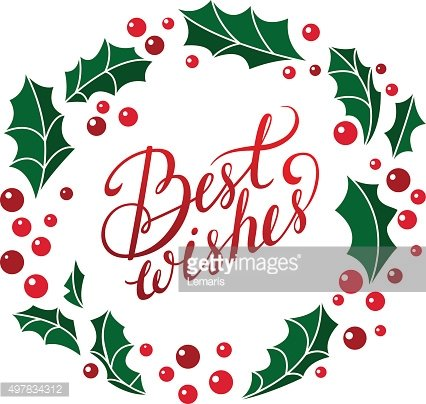 Vector best wishes card.