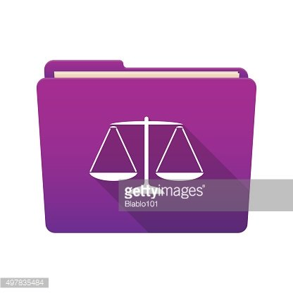 Folder icon with a weight scale