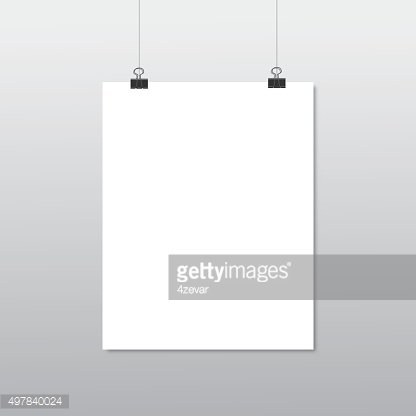 Hanging paper sign