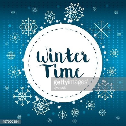 Winte time and snow
