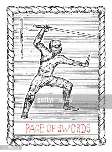 Page of swords. The tarot card