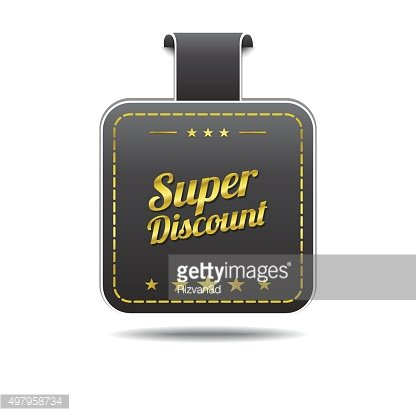 Super Discount golden Vector Icon Design