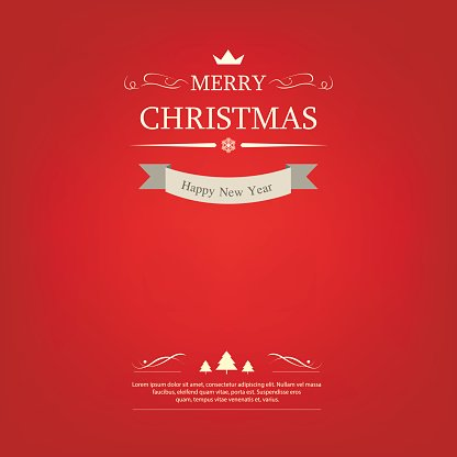 Merry christmas label and background. happy new year. christmas holiday.