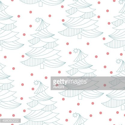 Christmas tree. Christmas and New Year background. Holiday seamless pattern.