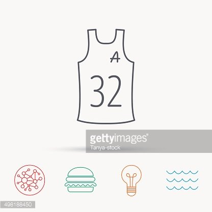 Team assistant icon. Basketball shirt sign.