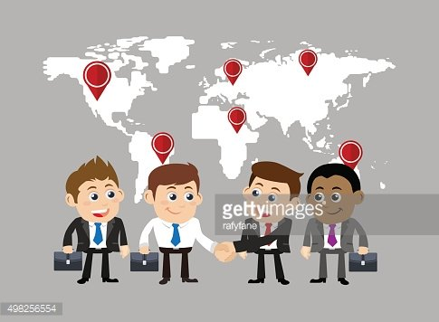 Businesspeople in cooperation and partnership concept