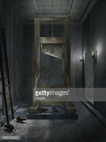 Room with guillotine