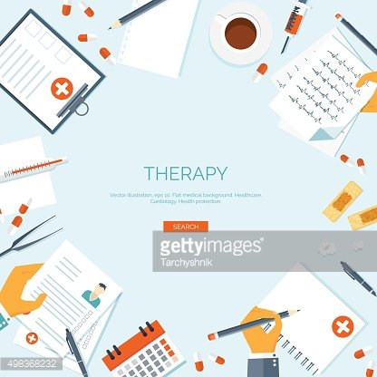 Vector illustration. Flat medical background. First aid ,diagnostic. Medical research