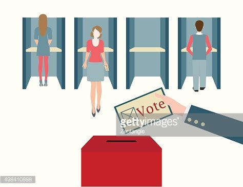 Voting booths design.