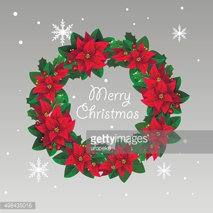 Christmas flower wreath