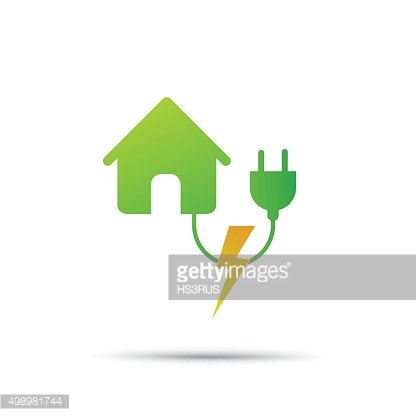Home energy power eco icon