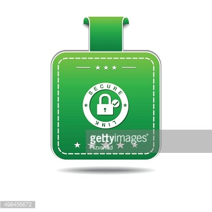 Secure Link Green Vector Icon Design