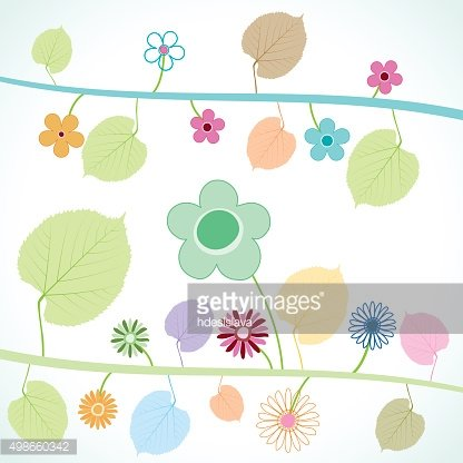 flower and floral elements background