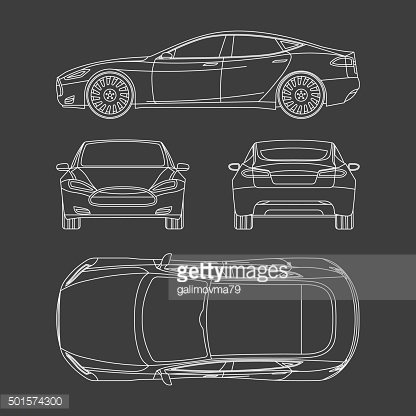 Pictures to draw four. Car all view top