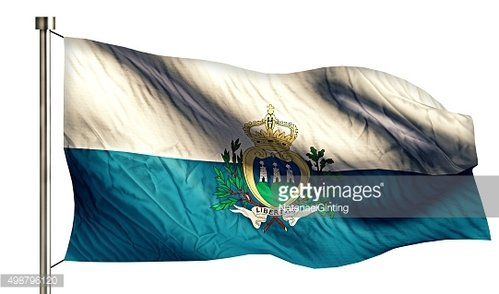 San Marino National Flag Isolated 3D White Background