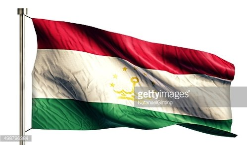 Tajikistan National Flag Isolated 3D White Background