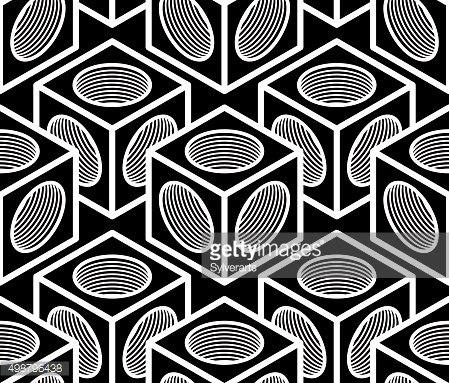 Monochrome abstract vector geometric seamless pattern.