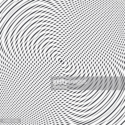 Abstract lined background, moire style. Chaotic lines