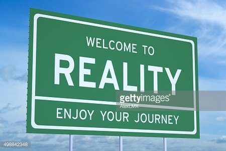 Welcome to Reality concept