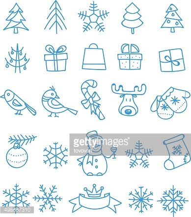 Christmas season vector elements collection