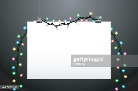 Hanging paper and lights