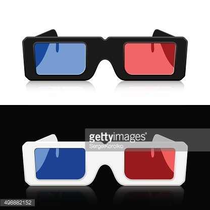 Two pairs 3D glasses