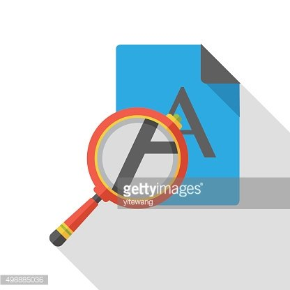 search paper information flat icon