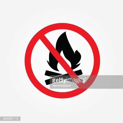 no bonfire sign vector