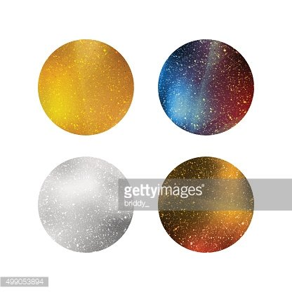 Colorful Shiny Isolated Circles