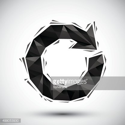 Black loop geometric icon made in 3d modern style