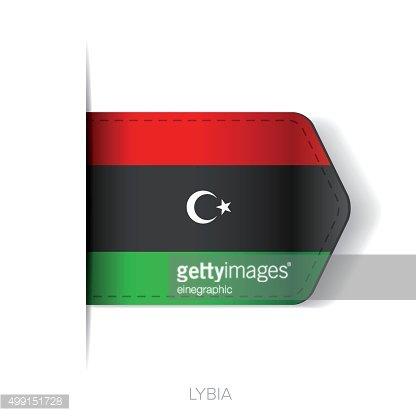 Lybia flag vector ribbon