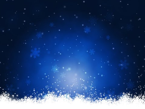 Winter Blue Christmas Background